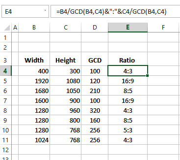 Calculate Ratio Between Two Numbers